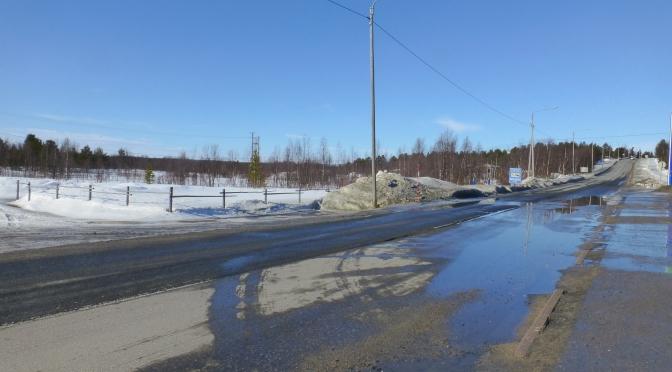 Frontière Finlande-Suède à Jietanasvuoma, 5 avril